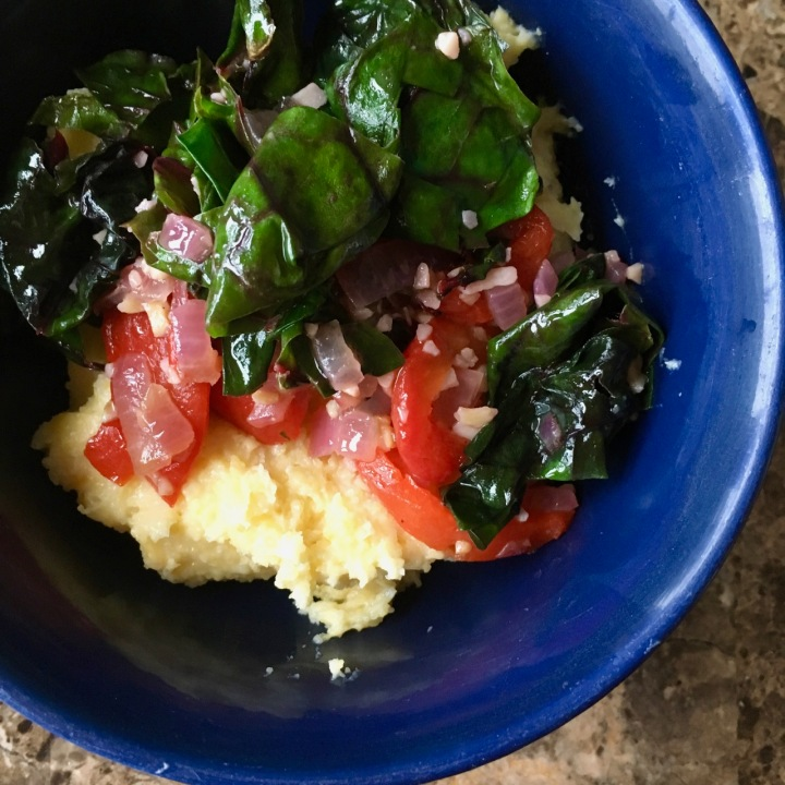 Polenta Bowls with Chard and Bacon
