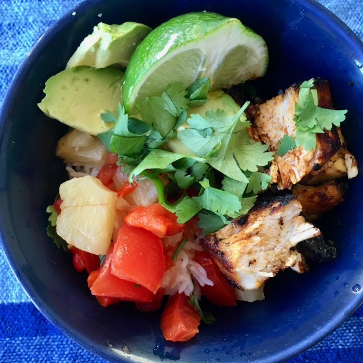 Healthy Burrito Bowls with Amazing Spiced Chicken